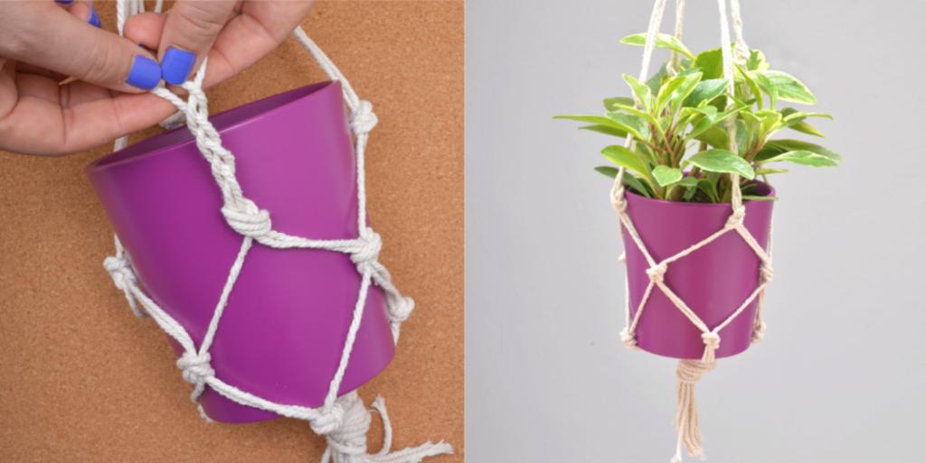 lifestyle home garden diy macrame planter holder rope crafts kids korner children play educate learn