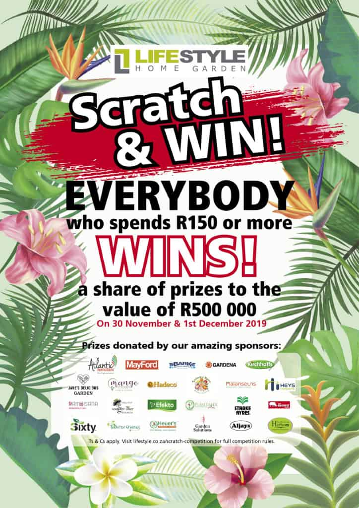 Scratch and Win Competition lifestyle home garden nursery johannesburg black friday weekend