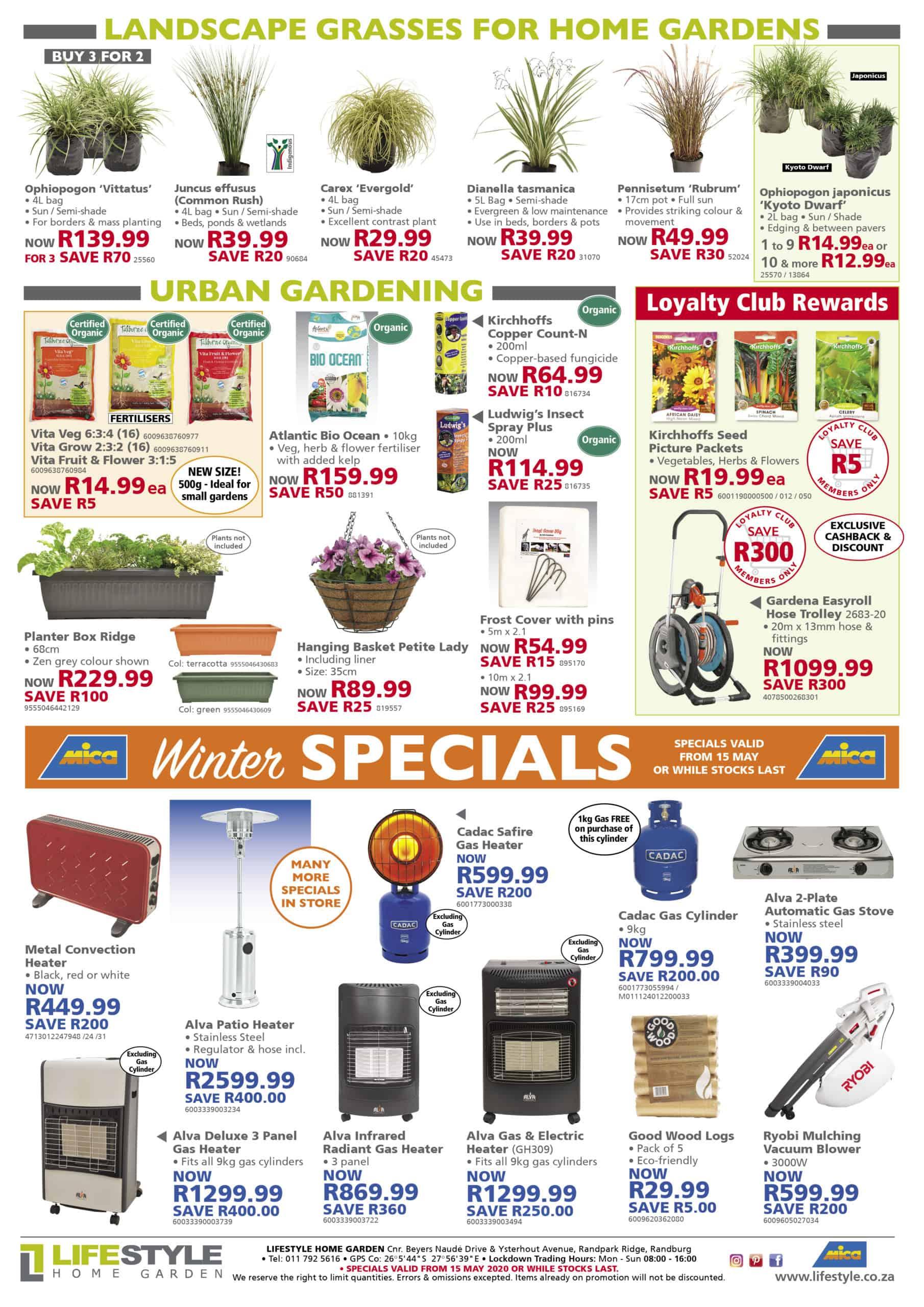 lifestyle home garden nursery plant shop combos value winter gardening specials johannesburg gauteng