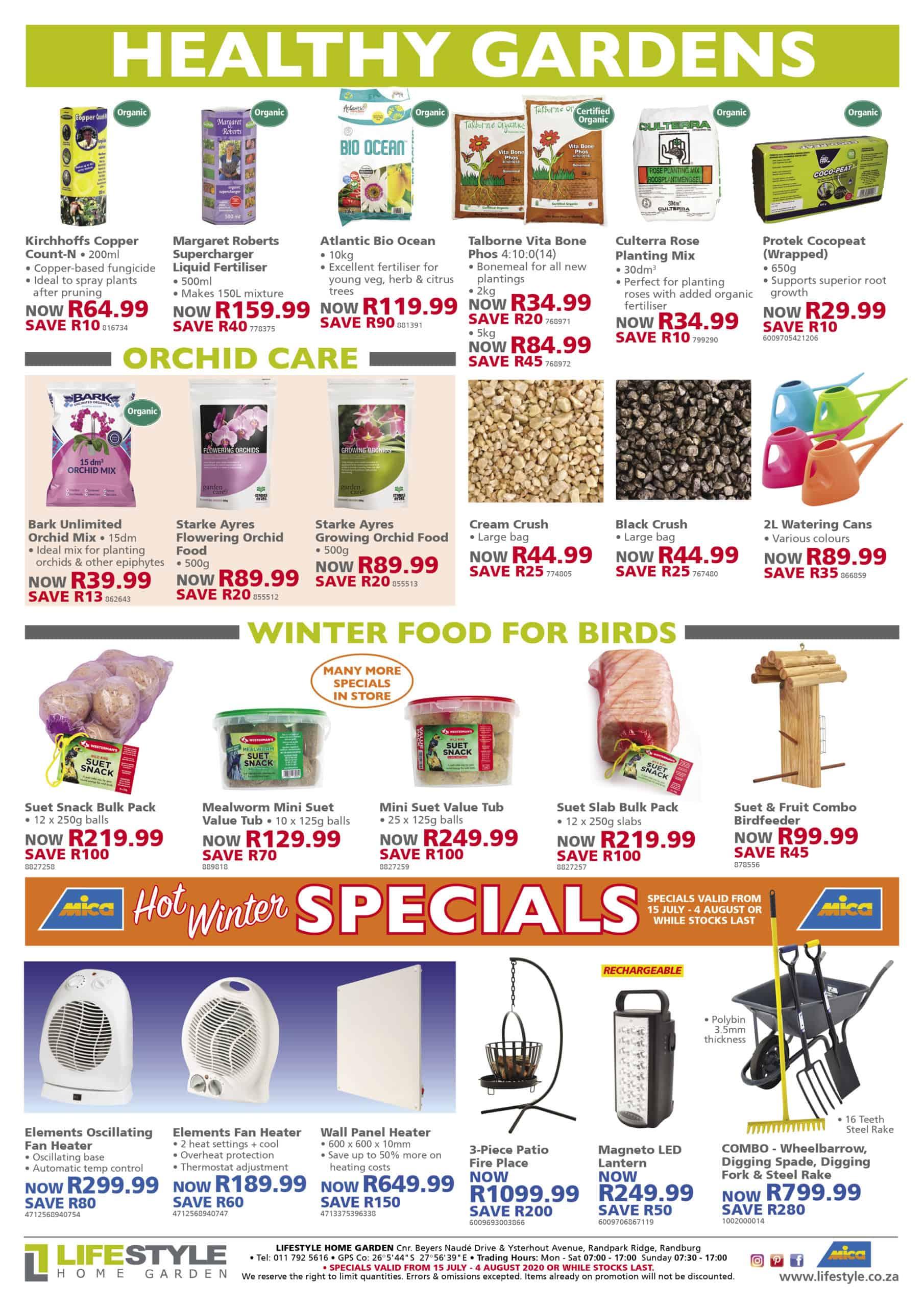 lifestyle home garden leaflet specials winter johannesburg colour flowers gauteng nursery plant shop