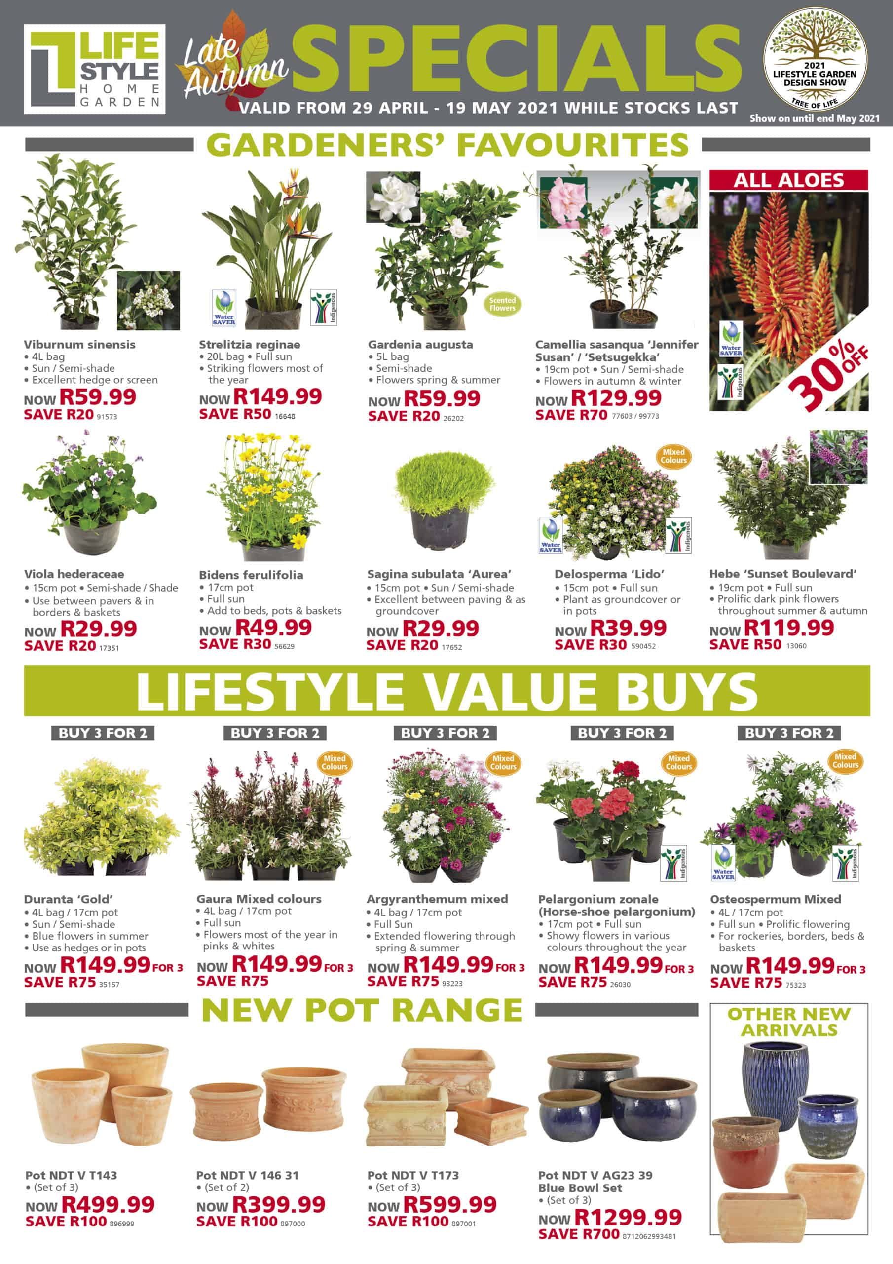 lifestyle home garden indoor plants grow your own south africa johannesburg pots landscape grasses late autumn deciduous fruit and nut trees shrubs hedges stylish stands indigenous waterwise healthy garden trellises outdoorscaping for the braai in the garden water features gardeners favourites specials